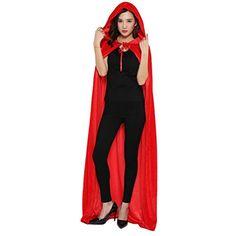 Halloween Umhang Cape mit Kapuze Karneval Fasching Kostüm Unisex: Amazon.de: Sport & Freizeit