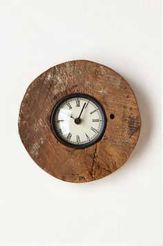 Reclaimed Wood Wheel Clock
