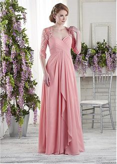 [116.99] Attractive Tulle & Chiffon Sweetheart Neckline A-line Mother Of The Bride Dresses With Beaded Lace Appliques - magbridal.com