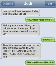 He should've said 'Hey! That's my job!' the whole class and the teacher would be dying lol