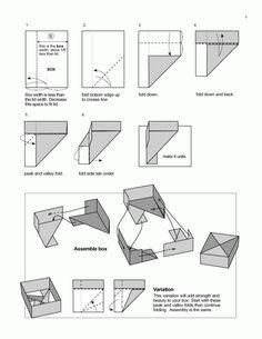 paper boxes origami paper box hexagon origami boxes basic lid rh pinterest com origami box instructions easy origami box instructions