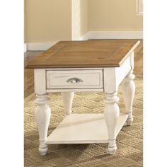 Liberty Bisque and Natural Pine Cottage End Table - Overstock™ Shopping - Great Deals on Coffee, Sofa & End Tables