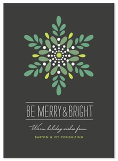 minted business holiday cards, luminosity by griffinbell studio