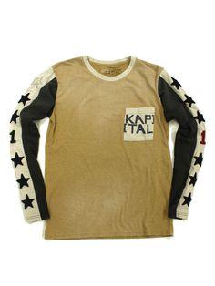 KAPITAL - 2 tone racer long sleeve T