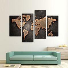 toile carte du monde 50 x 98 cm déco pinterest