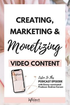 Creating, Marketing and Monetizing Video Content with Emmy-nominated Producer Andrea Corson Marketing Software, Affiliate Marketing, Media Marketing, Marketing Strategies, Marketing Ideas, Marketing Tools, Marketing Network, Content Marketing, Business Tips