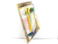 Wall Sculpture Geometric Wall Mask Abstract ceramic by 99heads, $69.00