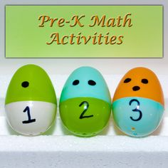Pre-K Math Activities a. Easter eggs! Matching the # to the amount of dots. b. Purpose is to help students understand the relationship between the number and the amount.