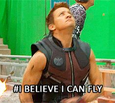 Dying. Laughing. And I really, really do love Hawkeye. And Jeremy Renner. But this is comedy gold right here.
