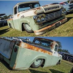 @camo_mitchell 's 1958 Ford F100 laying low on our #detroitsteelwheels steelies, all the way over in Australia. Love this look. #Mobsteel #ford #steelies