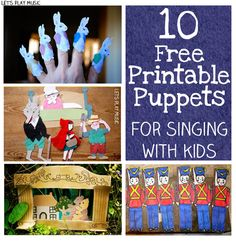 You can print off puppets for favourite nursery rhymes (5 Little Ducks, 5 Little Bunnies, 5 Naughty Monkeys etc) but also some more unusual songs I haven't heard of like Little Red Riding Hood and The Three Little Pigs!