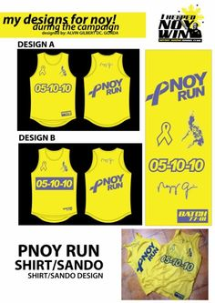Pnoy Run Singlet  Designer: Alvin Gilbert Dc. Gonda  Email: abugonda@yahoo.com President Of The Philippines, My Design, Graphic Design, Presidential Election, Campaign, Photoshop, Visual Communication