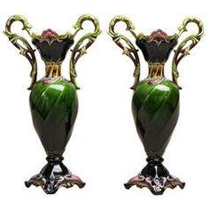 Pair of Art Nouveau Vases - by Julius Dressler