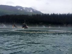 Fishermen setting their nets in Prince William Sound.  Photo Credit- Thomas Lopez