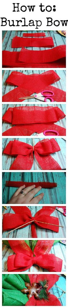 How To Make A Burlap Bow More More