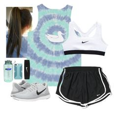 """run to the beat of your own drum"" by smaryb ❤ liked on Polyvore featuring NIKE and Nalgene"
