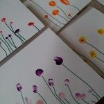 Finger-Print Thank You Cards. Love Laugh and Learn