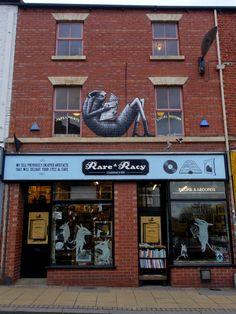 Rare and Racy, Sheffield Sheffield Art, Best Street Art, Gcse Art, City Architecture, Local History, Creating A Brand, Street Artists, Graffiti Art, Artist At Work