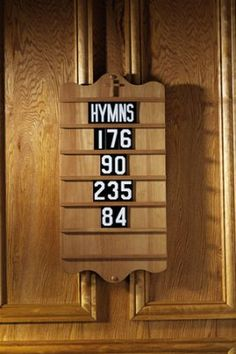 Hymn Board at church - This is a new one, but I remember this at the little church. To be prepared, sit down in your pew and make use of the hymn board to bookmark hymnal pages Thanks For The Memories, Sweet Memories, Those Were The Days, The Good Old Days, Memory Wand, I Remember When, Oldies But Goodies, Ol Days, Thats The Way