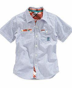 Epic Threads Kids Shirt, Little Boys Short-Sleeved Plaid Shirt