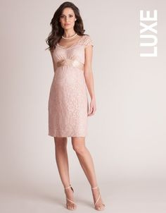 Rose Pink Lace Maternity Cocktail Dress | Seraphine Maternity