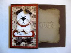 absolutely adorable punch art pooch ... luv him!! ... Stampin' Up!