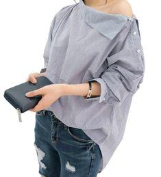 61da8b26950e Originální dámská košile se zapínáním na rameni - Pošta Zdarma Spring  Summer
