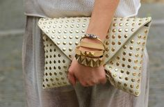 Can't get enough of that Zara Studded Envelope Clutch
