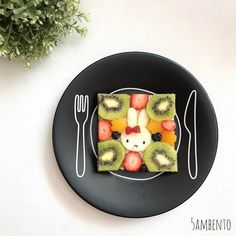 Miffy open sandwich by Tian Min (@5ambento)