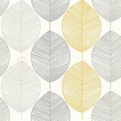 Arthouse-Scandi-Leaf-Yellow-Grey-Glitter-Wallpaper-698401