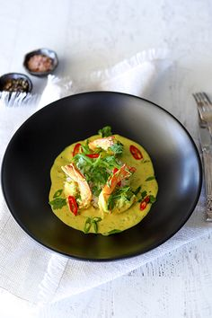 Prawns in Spiced Turmeric & Coconut Cream & Rice - Temptation For Food