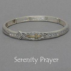 Womens Silver & Gold Tone Bracelet, Side Cross (Sideways) Religous with Serenity Prayer and Fish Outline Value Line, http://www.amazon.com/dp/B007JYRKGW/ref=cm_sw_r_pi_dp_KgPTqb0DM9GBN