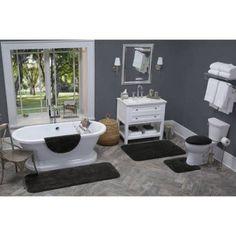 Better Homes and Gardens Extra Soft Bath Rug, Black