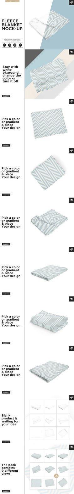 Fleece Blanket Mock-up. Product Mockups