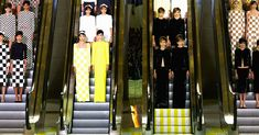 The conceptual artist designed the distinctive escalator-flanked set for the house's most recent catwalk show