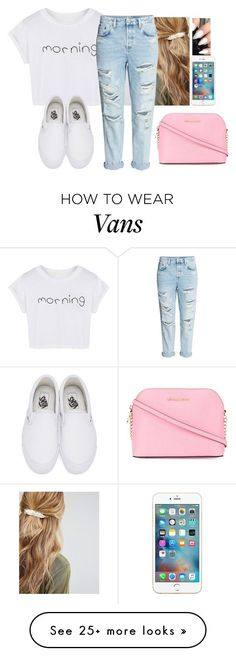 """Be cool✌"" by hannahmcpherson12 on Polyvore featuring Johnny Loves Rosie, WithChic, Vans and MICHAEL Michael Kors"