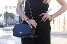 Love the Chanel + white nails