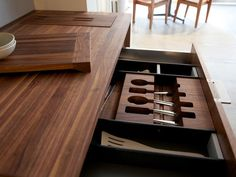 HB Flatware Storage Elegant and Highly Functional Drawer Accessories for Modern Kitchens