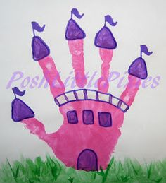 Look what we will be making in Arts & Crafts next week!  Posh Little Pixies: Princes Castle Hand Print