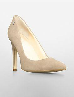 Calvin Klein: brady suede pointed toe pump