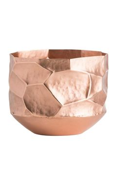 This solid copper container has faceted sides that are hand-hammered to create even more visual interest and reflections. The hand polished edges highlight the irregular shapes giving it even more dimensionality. Use to hold any small objects or do what we did and use it as a planter with an orchid. Paisley Vase Container by Arteriors. Home & Gifts - Gifts - Gifts by Occasion - Wedding & Engagement Home & Gifts - Home Decor - Vases Florida