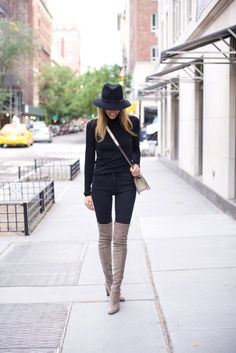 5 Outfits with Taupe Over the knee boots