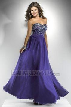 Sheath/Column Strapless Sweetheart Chiffon Prom Dress - IZIDRESSES.COM