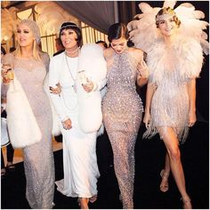 Khloe Kardashian, Kylie Jenner and Kendall Jenner all in custom Yousef Aljasmi ________________________________________ The notable sisters sparkled from head to toe as they rang in their mothers 60th birthday in style, striking high glamour while embodying the Great Gatsby theme perfectly. ________________________________________ Stylists, Yousef Aljasmi pieces are now available for red carpet and editorial pulls at STYLE PR, book your appointment today! @stylepr @yousef_aljasmi…