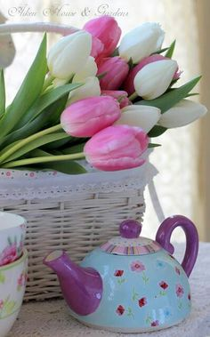 Amazing images for Cozy-spring mood, with colorful flowers and decoration. Pink Tulips, Tulips Flowers, Colorful Flowers, Spring Flowers, Planting Flowers, Beautiful Flowers, Top Flowers, Prince Edward Island, Happy Spring
