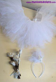 Polleras de tul para disfraz de novia sexy, despedida de soltera. myvioletdesigns.com