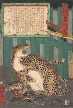Виртуоз в традиционной японской живописи. Kawanabe Kyōsai. Обсуждение на LiveInternet - Российский Сервис Онлайн-Дневников