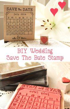 DIY Wedding Save The Date Stamp