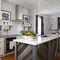 Sarah Richardson Design - kitchens - subway tile herringbone backsplash, subway herringbone backsplash, kitchen herringbone backsplash, herr...