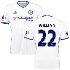 Willian Borges da Silva Chelsea adidas 2016/17 Third Replica Patch Jersey - White - $86.24